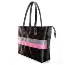 Load image into Gallery viewer, Shopper Tote Black Grey Pink right
