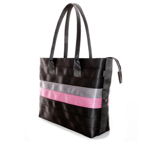 Shopper Tote Black Grey Pink right