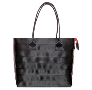 Shopper Tote Black Red front
