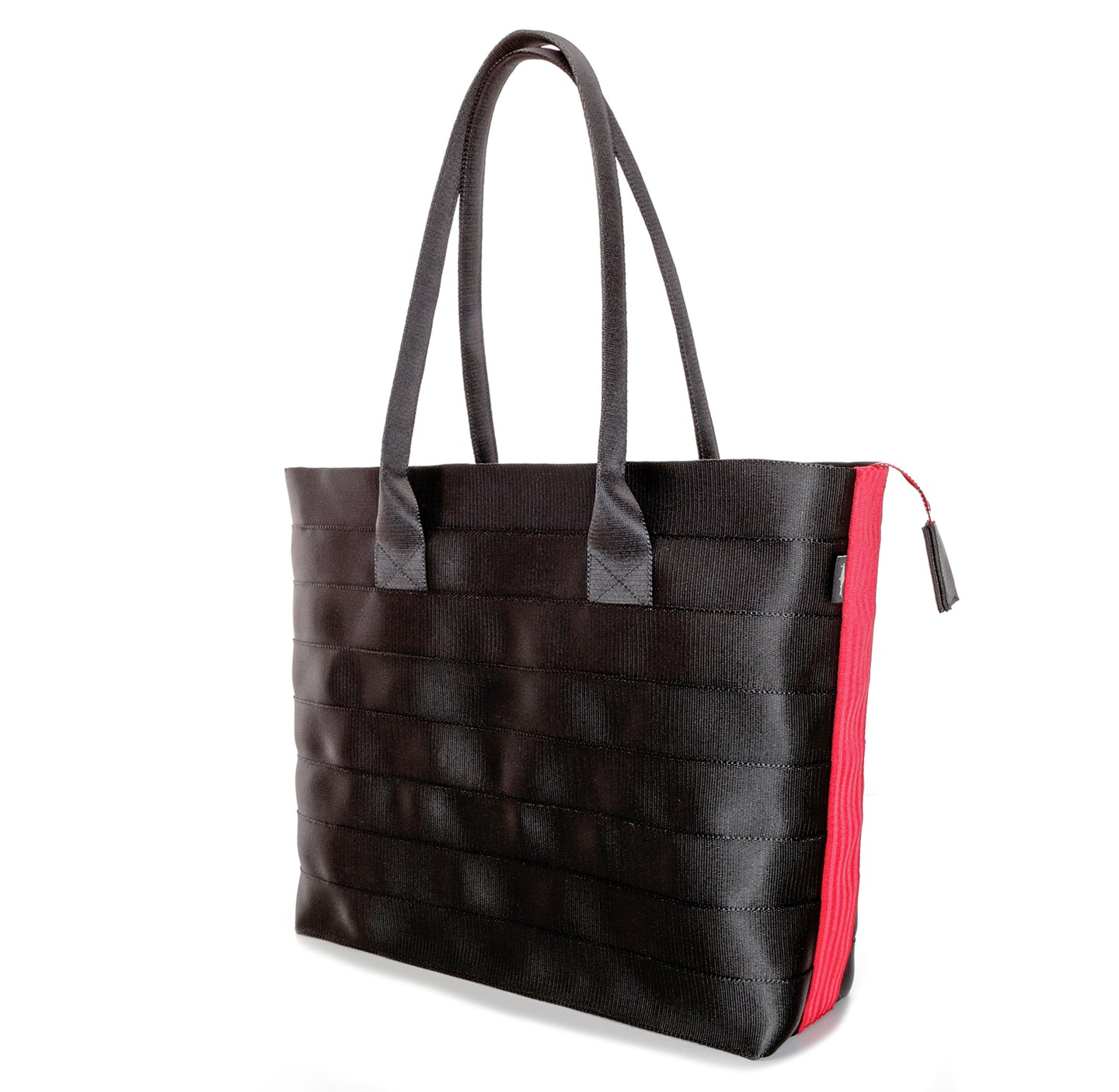 Shopper Tote Black Red right