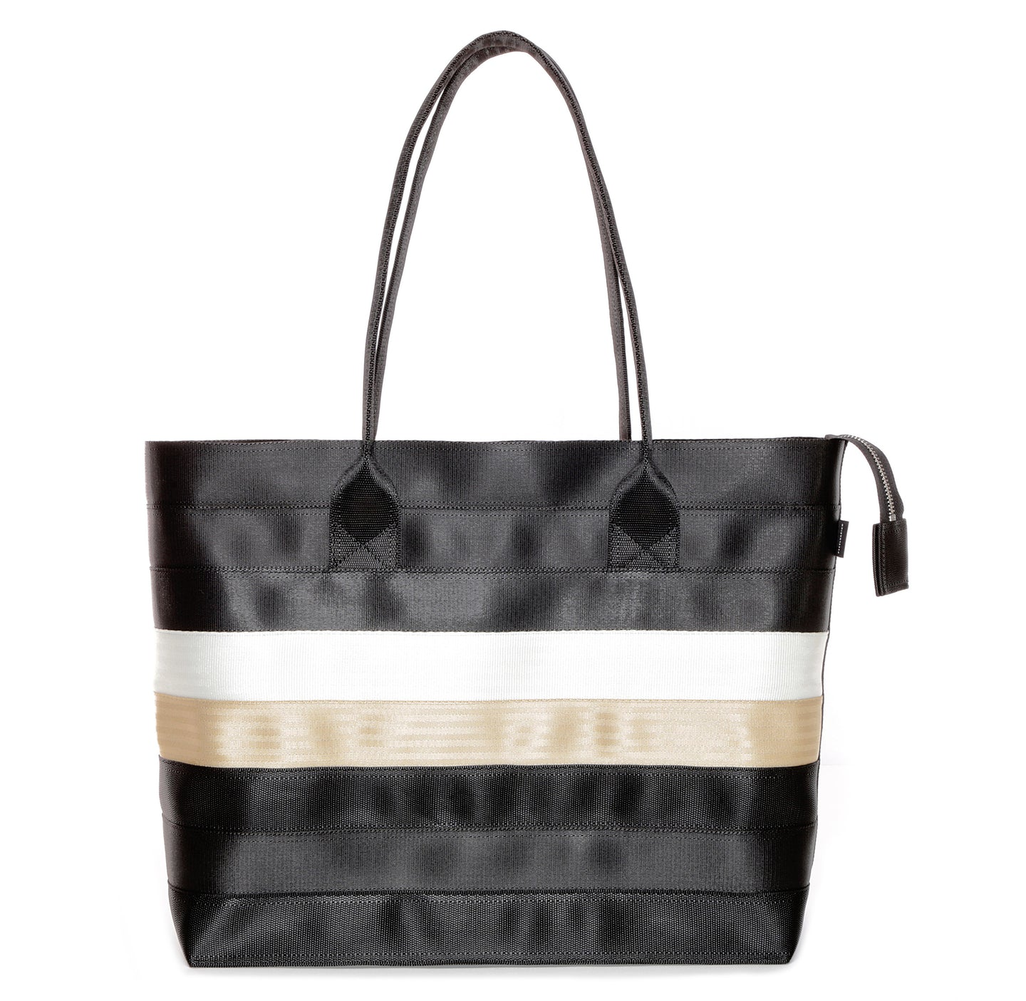 Shopper Tote Black White Gold front