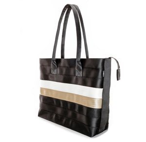 Shopper Tote Black White Gold right