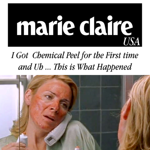 Marie Claire magazine sleeps with slip silk pillowcase. Chemical Peels!!