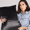 pillowcase - black - queen - envelope