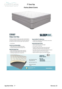 "Sleep Inc. Euro Top 7"" Mattress Sets"
