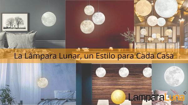 Lámpara luna Decoración