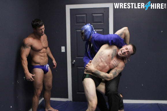 Cal Bennett vs. Max Quivers & Joey Nux (Muscle4Hire)