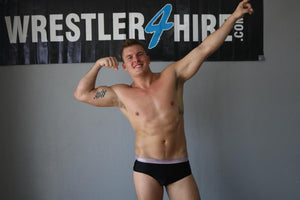 Black with Silver waistband and stripes Pro Trunks