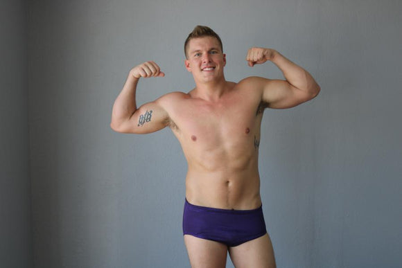 Metallic Purple Pro Trunks