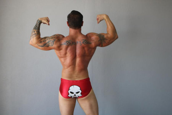 Red with Skull Pro Trunks