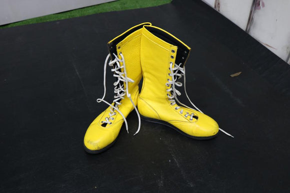 Yellow Pro Boots (Size 10)