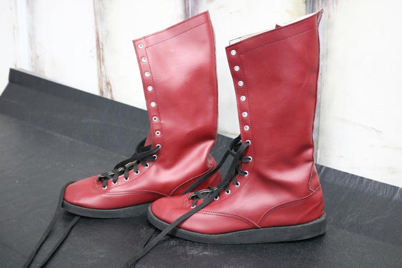 Burgundy Pro Boots (Size 10)