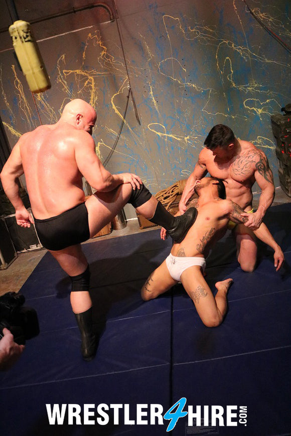 Brute Baynard & Joey Nux vs. Christian Thorn