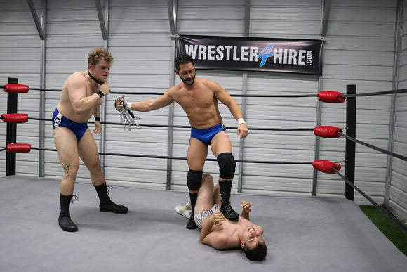Vinny Motz vs. Chase Sinn & Mad Dog Mike (Double-Teamed)