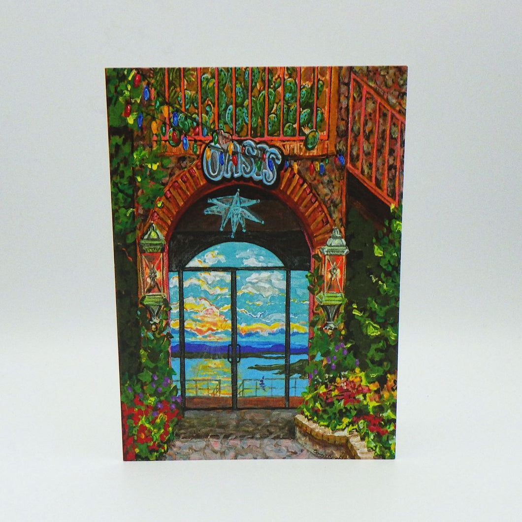 Painted Oasis Greeting Card