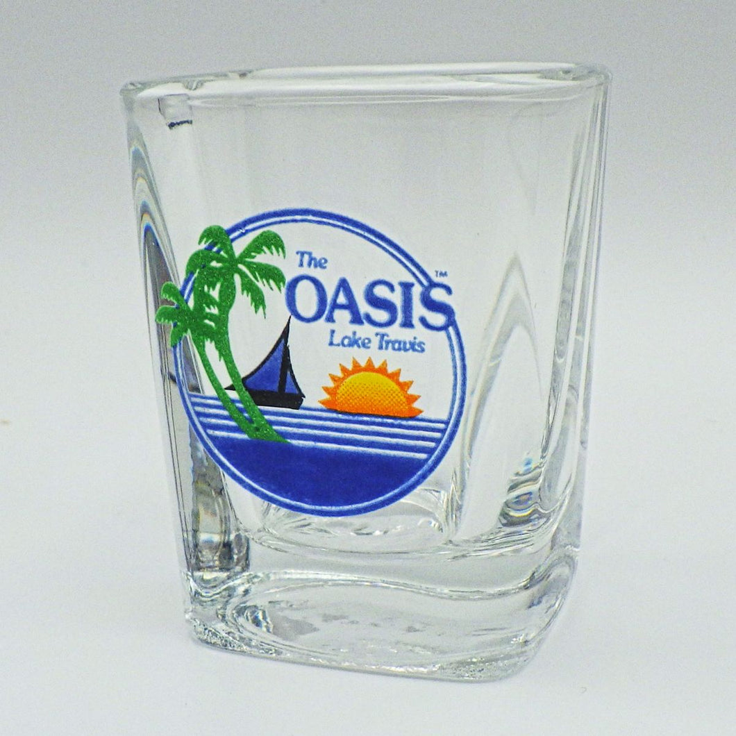 Oasis Logo Square Shot Glass
