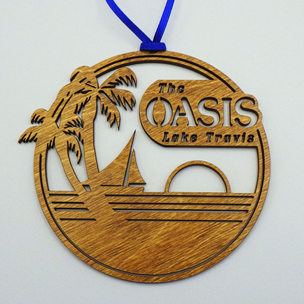 Oasis Logo Wooden Ornament