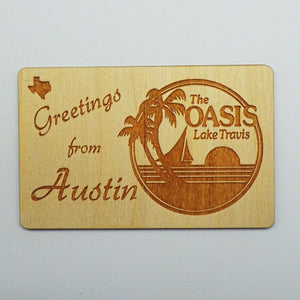 """Greetings from Austin"" Wooden Postcard"