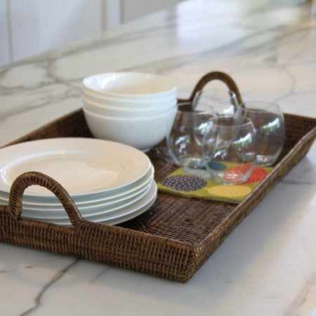 Tray Rattan Large