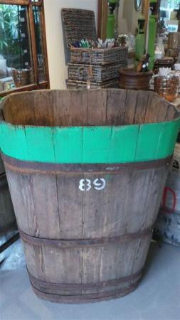 Wine barrel used to store grapes