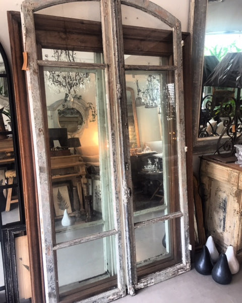 Door french double timber and Glass Door