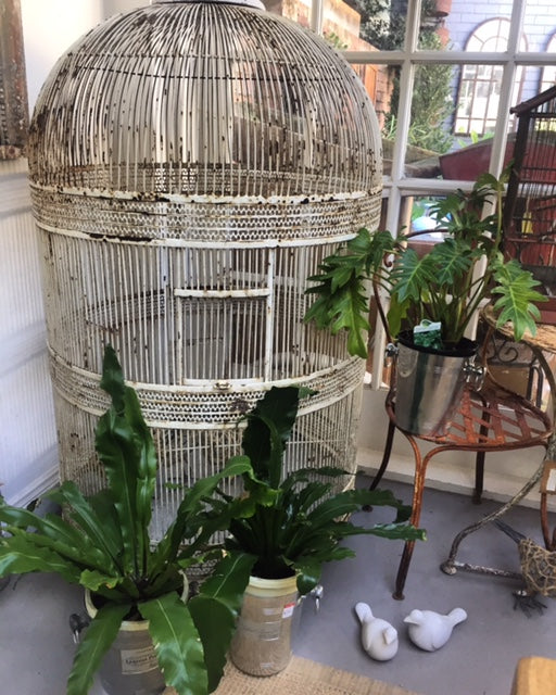 Vintage French metal bird cage