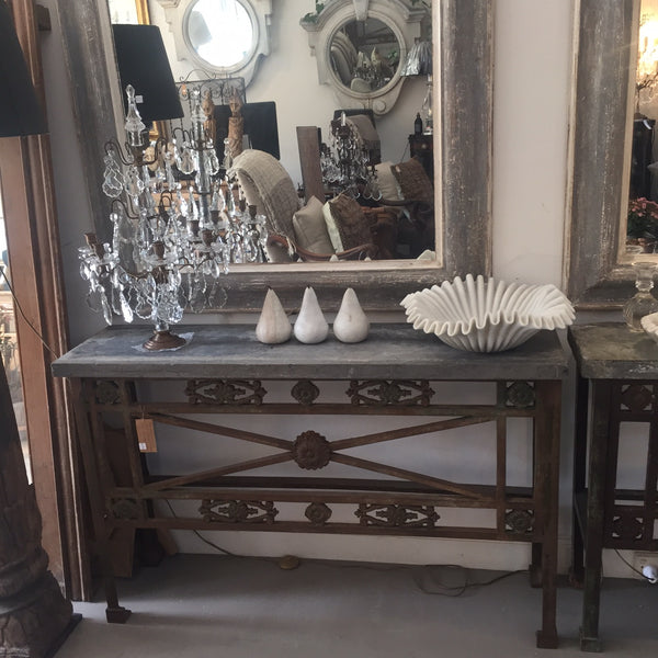 Console table stone top