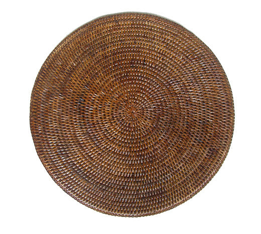 Placemat rattan round Brown ON BACKORDER
