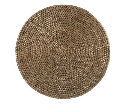 Placemat rattan round Vintage Brown