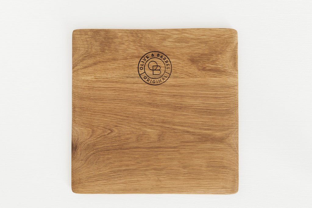 Olive & Barrel Square Serving Board
