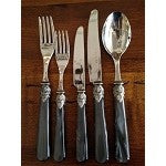 Italian Charcoal Cutlery Set