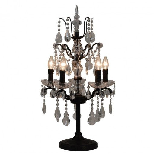 Chandelier table electrified