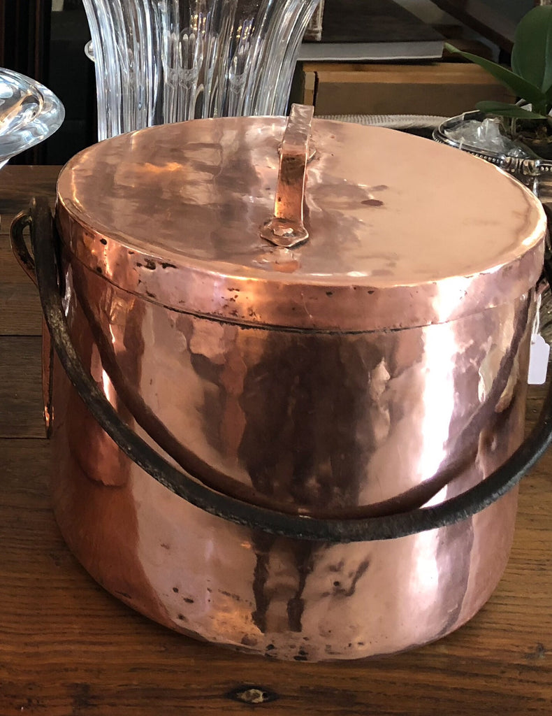Copper french pot with lid