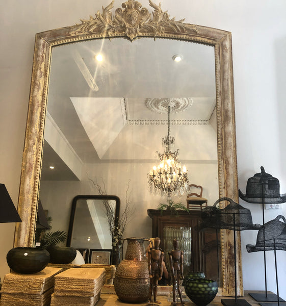 French majestic mantle mirror