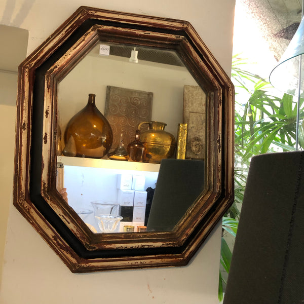 French octagonal mirror petite