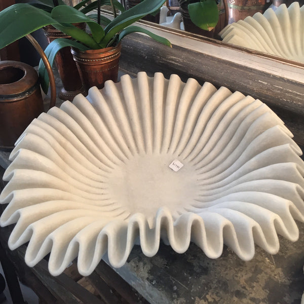 Marble bowl pleated XL