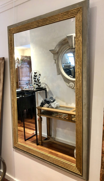 French gilt reeded mirror SOLD