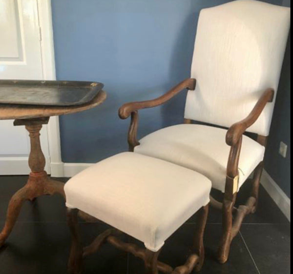 Arm chair  french Os de Mouton