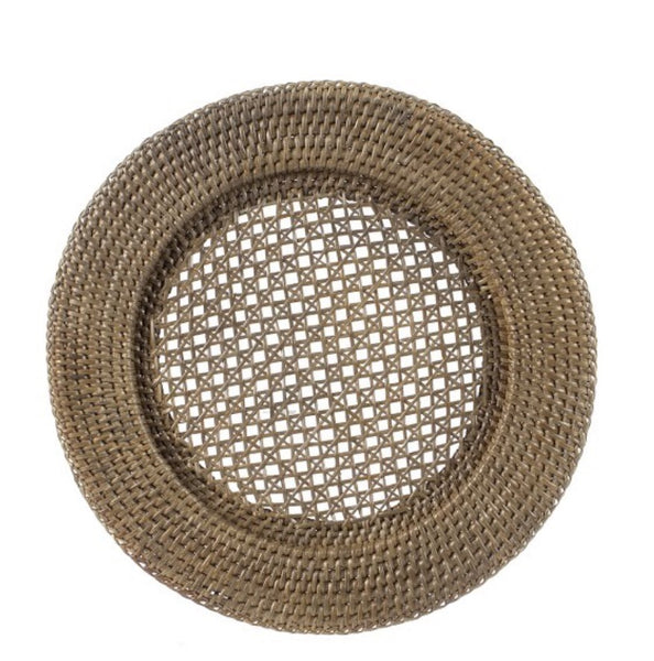 Rattan underplate vintage brown