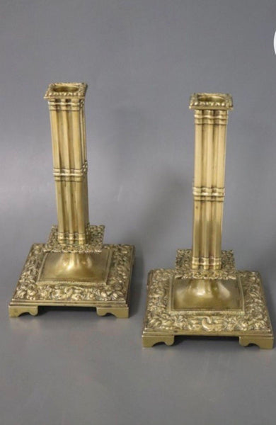 ARRIVAL APRIL 2021- Candleholders brass pair