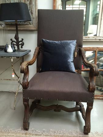 Chair Louis XIV armchair newly upholstered