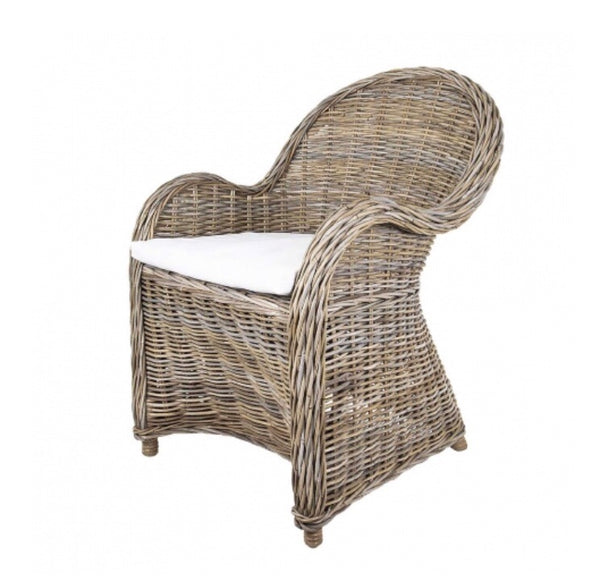 Wicker  tub chair with arms
