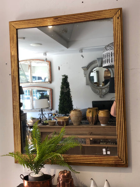 French gilt reeded mirror 19thC