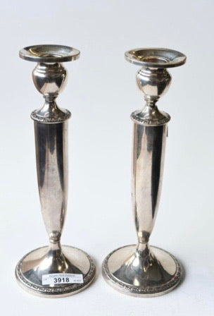 Silver sterling candlesticks