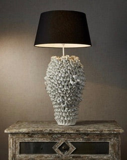 Lodge white table lamp