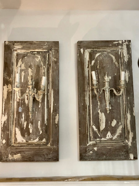 Candle  panel sconces pair