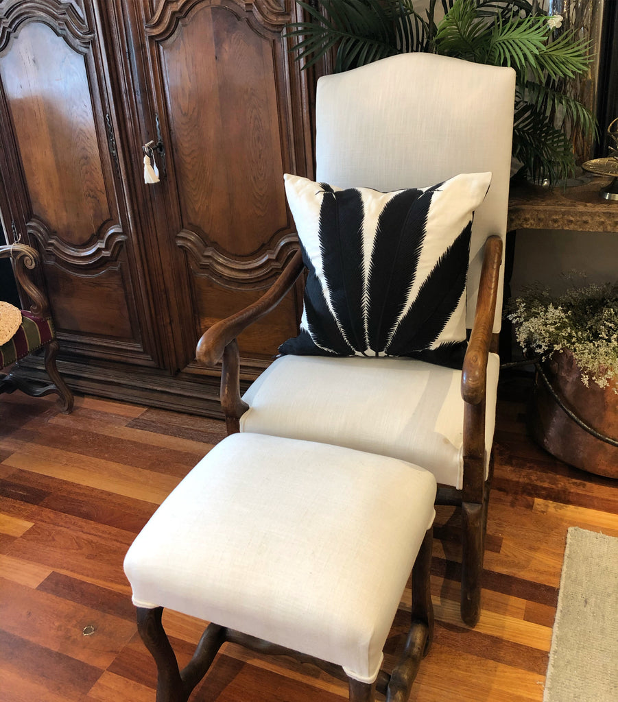 Chair Arm french Os de Mouton