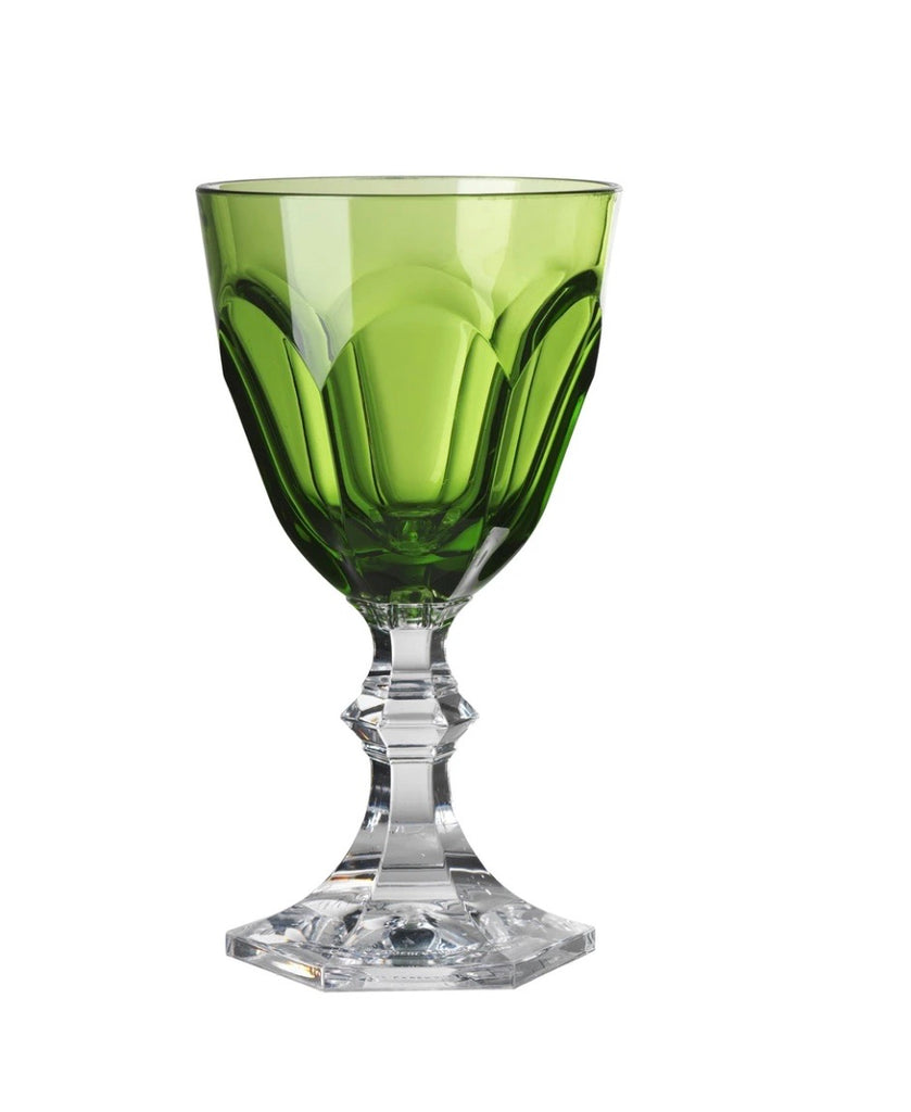 Mario Luca wine glass set of 6 green