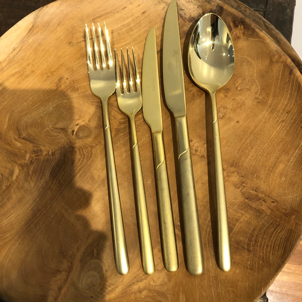 Italian gold finish Cutlery Set