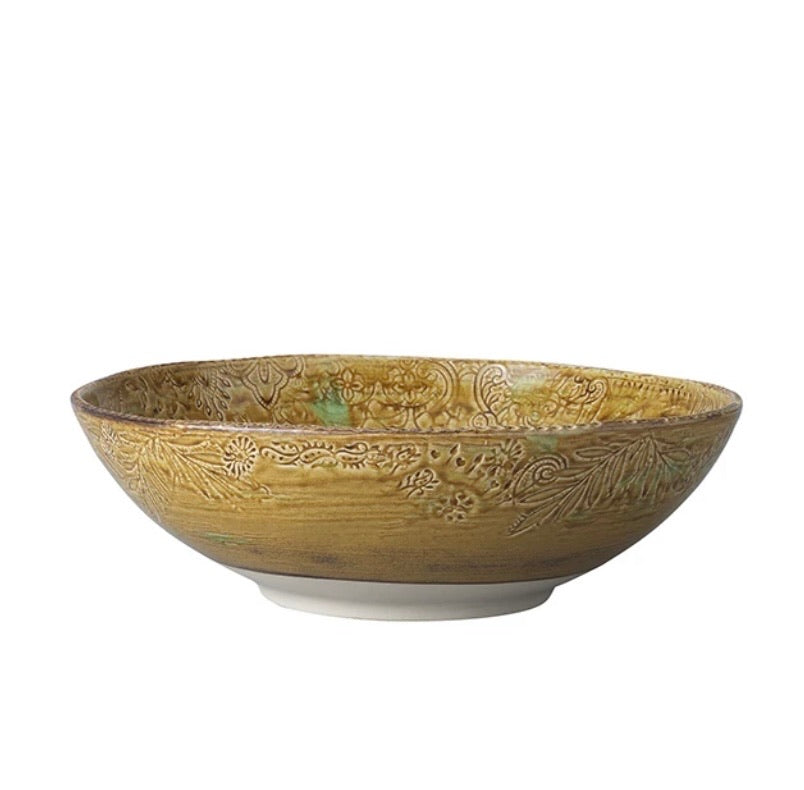 Ceramic round bowl 350mm